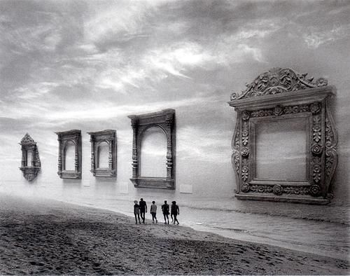 "Each one loomed beside them, empty, and waiting to be filled.""    Photo by Jerry Uelsmann"