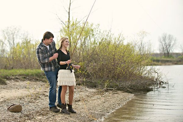 Fishing by the lake engagement shoot by Summer Jean Photography