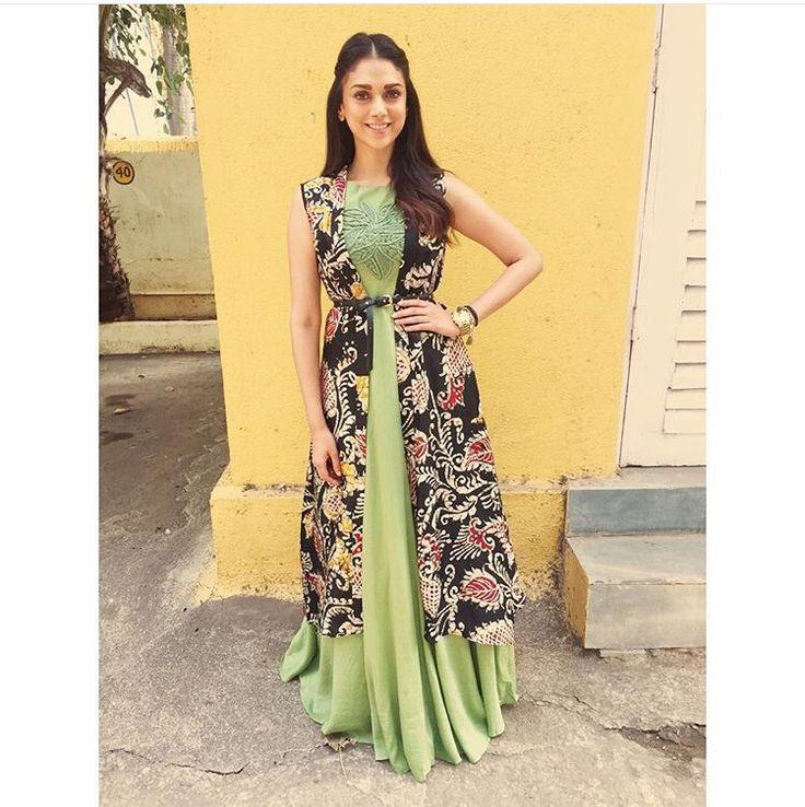 Label Anushree # layered fun # Aditi Rao # summer fun # Indian fashion