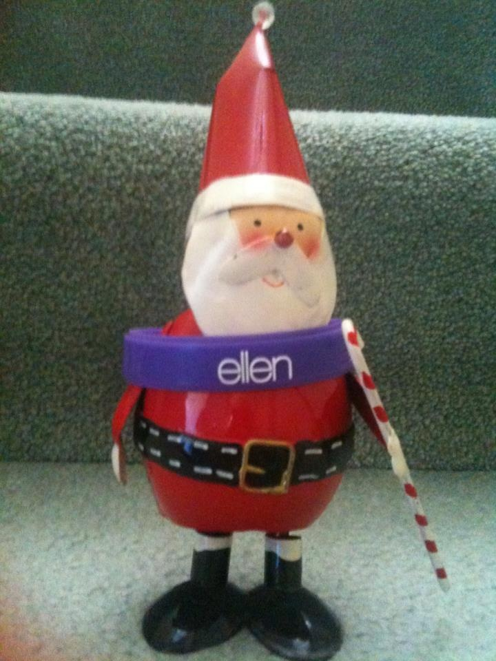 Ellen & Santa must have been scheming something up!!