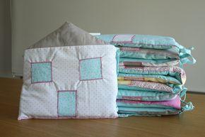 Tutorial protector de cuna para bebés en forma de casita. #handmade #sewing #pachwork #diy #tutorial