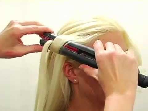 Делаем красивые кудри с помощью утюжка - YouTube