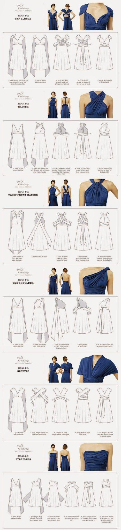 6 ways to wear a wrap / convertible dress #wrapdress #convertibledress