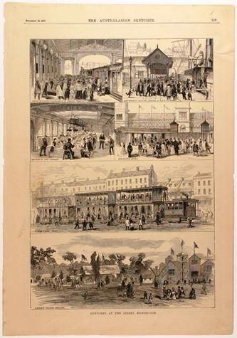 Newspaper Cutting -;Sketches at the Sydney Exhibition;, The Australasian Sketcher, Melbourne, 20 Dec 1879