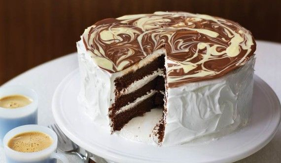 CHOCOLATE CAKE WITH VANILLA MERINGUE FROSTING / Promotions 2 / Emerald Street