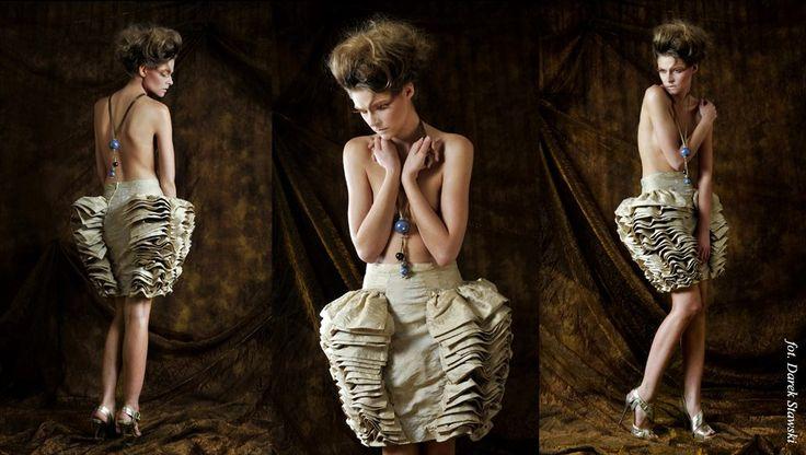 unique skirt - Gabriela Hezner designer  fot. D. Stawski model - Nicole D'Vision agency