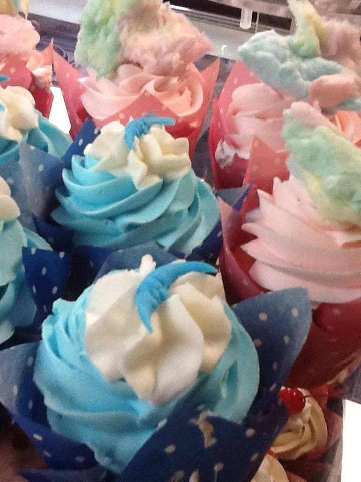 Blue moon and cotton candy cupcakes from Tamara's the Cake Guru
