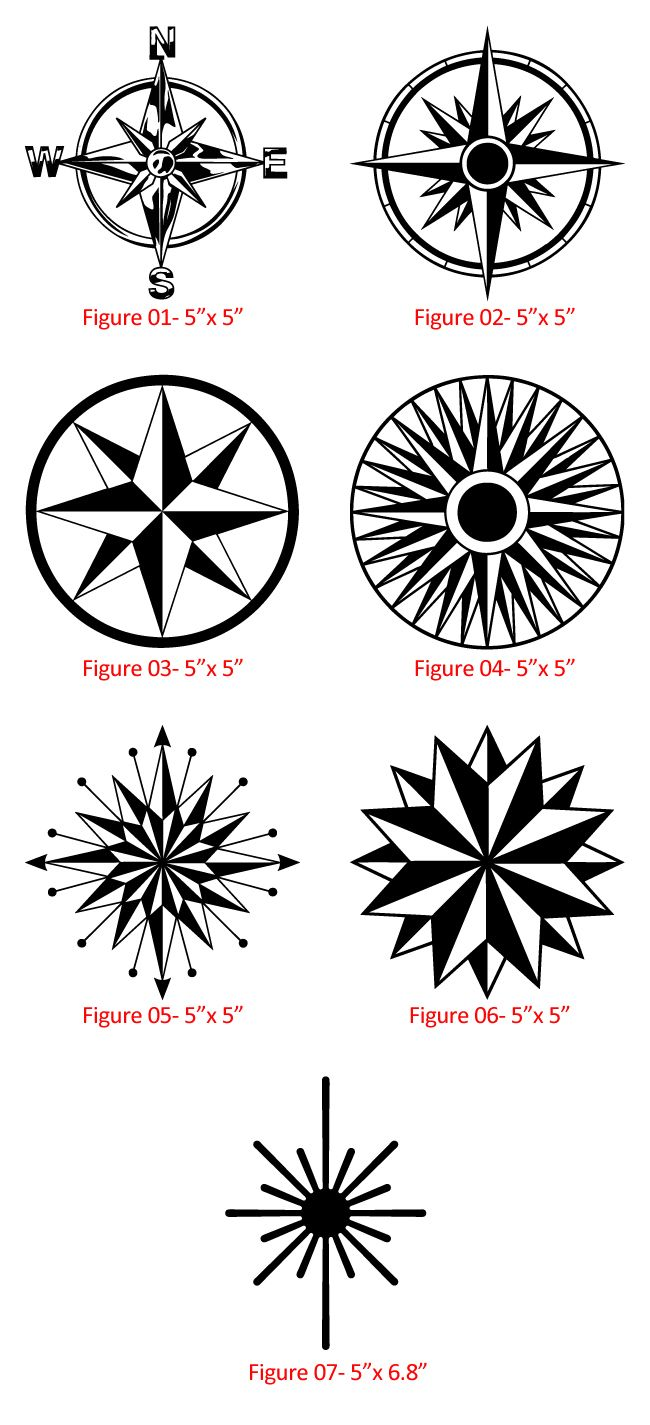 Nautical Compass Rose - Really like figure 6