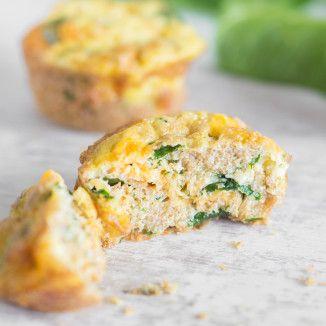 Muffin-Omelettes mit Spinat und Quinoa