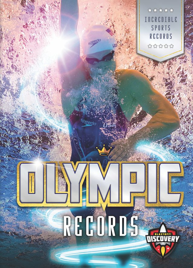 Usain Bolt sprints past the competition at the 2012 Olympic Games. As he crosses the finish line, the world's fastest human sets a new Olympic record! Bolt's accomplishment is one of many incredible athletic feats highlighted in this informative book about Olympic records.