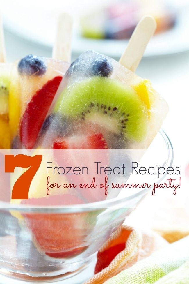 End of Summer Party Ideas: 7 Frozen Treats www.spaceshipsandlaserbeams.com