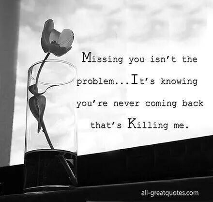 And i do miss u! So much my heart aches constantly & it is killing me bc i can't imagine living the rest of my life without u in it