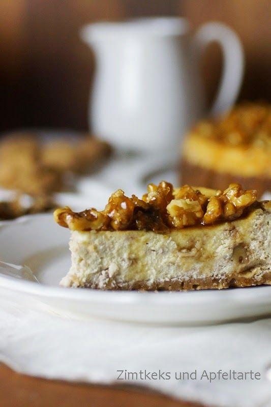 Kanada und ein köstlicher Maple-Walnut-Cheesecake - Zimtkeks und Apfeltarte