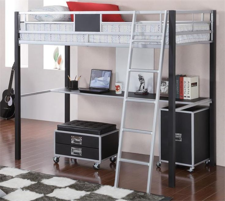 Coaster Leclair Twin Over Workstation Bunk Bed Las Vegas Furniture Online | LasVegasFurnitureOnline | Lasvegasfurnitureonline.com