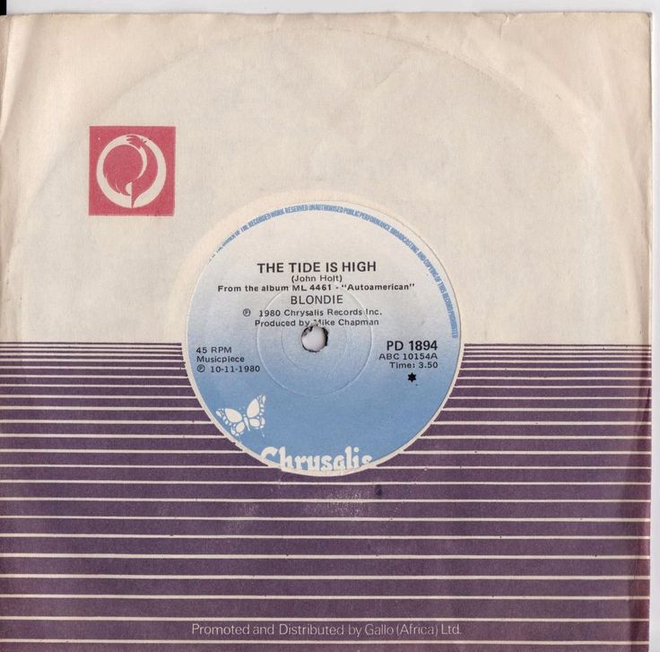 """BLONDIE The Tide is High 1980 South Africa Rare 7"""" 45 Vinyl Record Debbie PD1894   Music, Records   eBay!"""