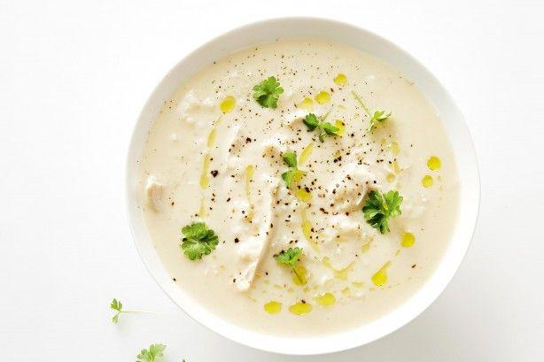 Avgolemono (lemon chcken rice soup)