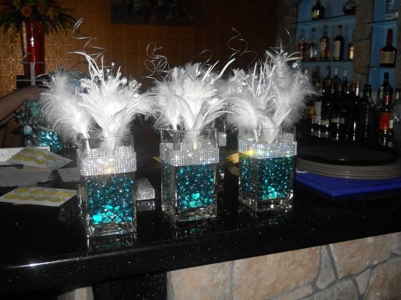 Tiffany Amp Co Themed Centerpieces By Eabybrianne On Etsy