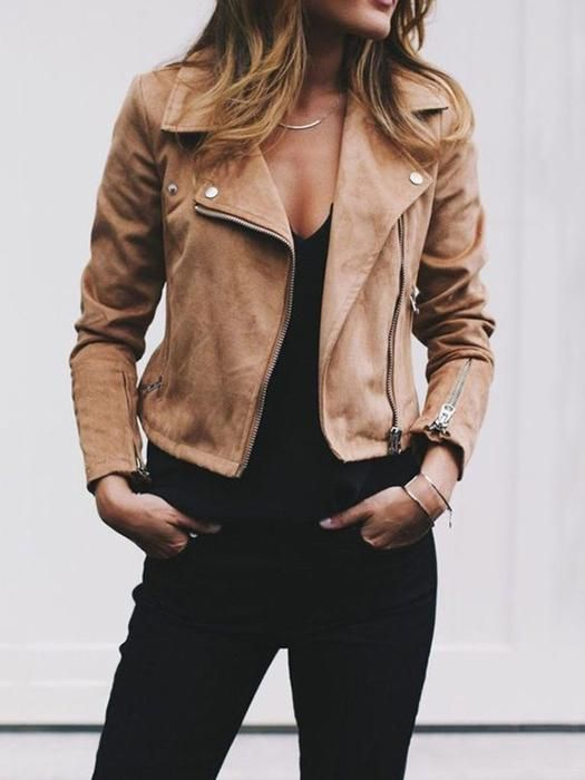 f89ab9446 Casual Shawl Collar Bomber Jacket in 2019 | My Style Inspirations ...