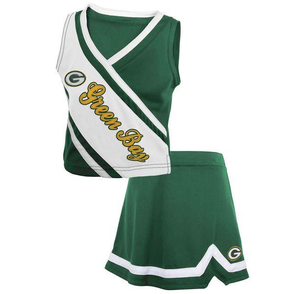 Green Bay Packers Girls Youth 2-Piece Cheerleader Set - Green - $29.99