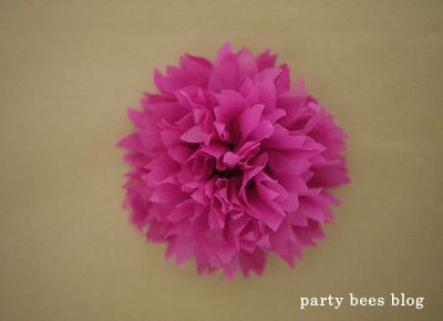 DIY kiddie party idea 22 お花紙でつくるフラワーバリエーション♪ の画像|おうちでキッズパーティしよう♪kids party creater MOMMYがお届け《party bees blog》