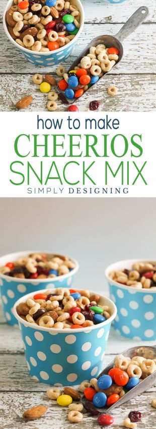 How to make Cheerios Snack Mix in minutes | Snack Mix | Trail Mix | Cheerios Mix Recipe | such an easy and delicious recipe that is perfect to pack in lunches, give to a neighbor or to keep on hand for after school or for during the summer (Diy School Snacks)