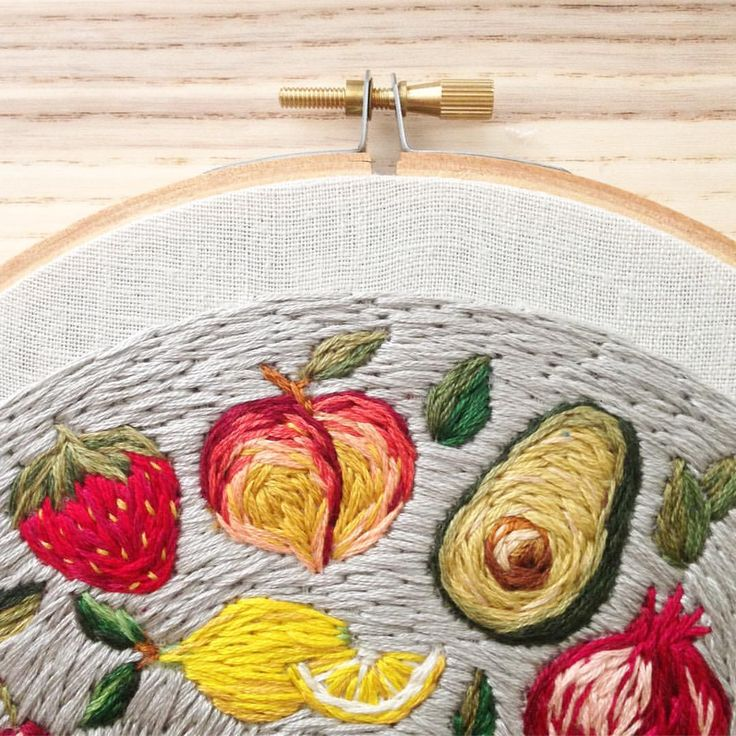 A throwback to this sweet hoop--one of my favorites from 2016! Looking forward to resurrecting these fruits and veggies for some fun projects this year.
