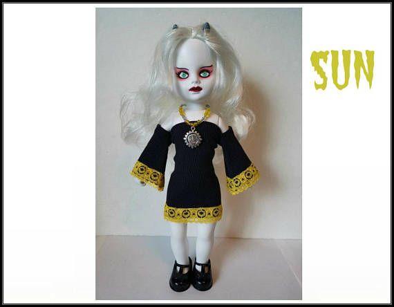 Living Dead Doll Clothes   SUN Goth Black Dress and Sun