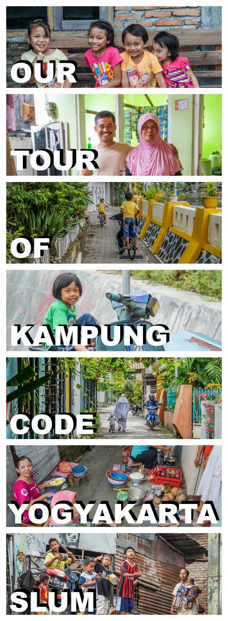 Kampung Code is a former slum neighbourhood in Yogyakarta, Central Java, Indonesia. Join us on this alternative village tour where we meet with the locals. | Visit Java | Top Tours in Java | Top things to do on Yogyakarta | Explore Yogyakarta | Off the beaten track in Java | Where to visit in Java | Backpacking Java | Best of Java | Informative tour in Yogyakarta | Local tours in Java | Top tips for Java | What to do in Yogyakarta | Tips for Java travel