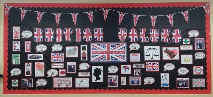 British values school display board