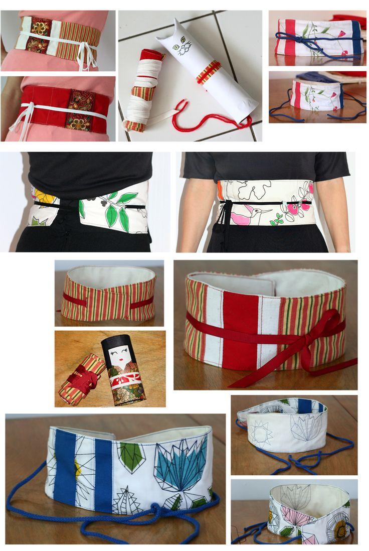 OBI obsession... obi belt, ceinture japonaise obi, diy