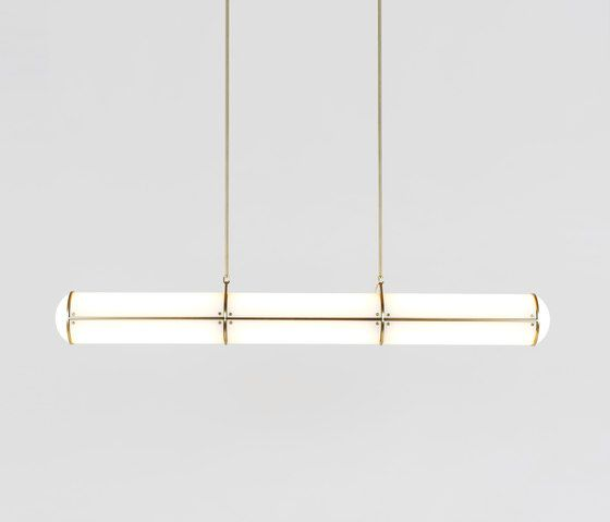 Endless straight 3 units brass by Roll & Hill | General lighting