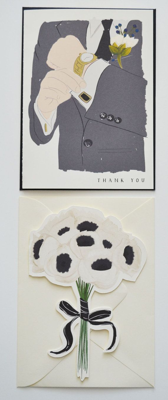 6 Wedding Cards Bridesmaid and Groomsmen by firstsnowfall on Etsy