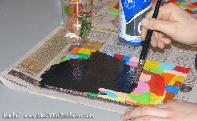 Tim recouvre les pastels de peinture ecole pinterest pastel et bricolage for Peinture pastel gras