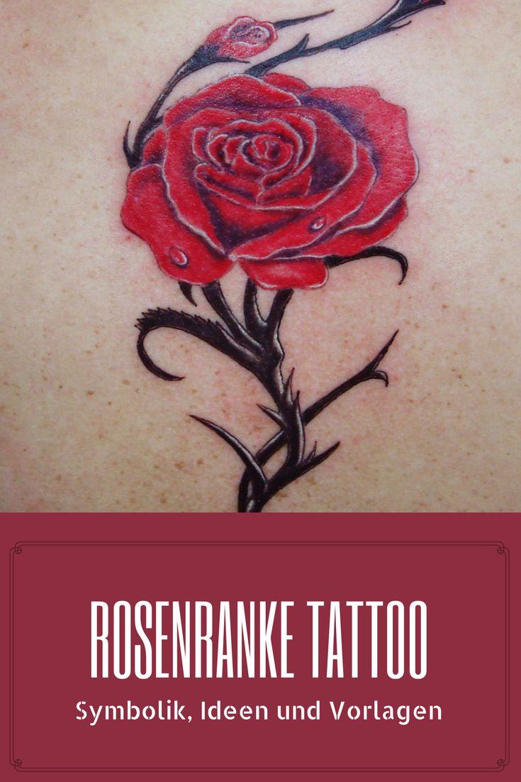 Nicht nur die Rosenblüten, sondern auch die Rosenranken erfreuen sich bei Frauen großer Beliebtheit. Ob am Arm, Bein, Rücken, Fuß oder an der Schulter gestochen, sie sehen sehr filigran aus und komplettieren perfekt das Rosenmotiv.