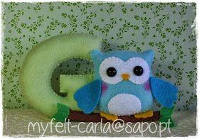 Literka / sowa / owl / letter
