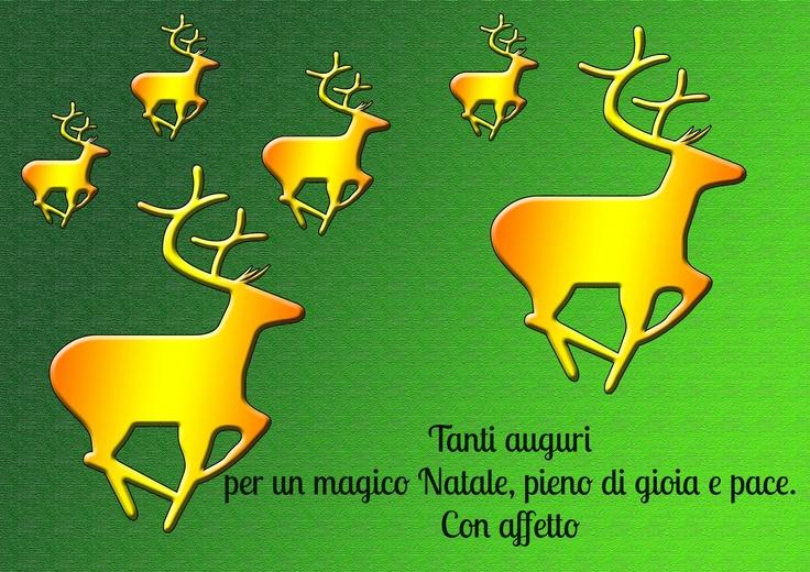 Simpatico biglietto d'auguri di Natale con le renne  http://www.messaggi-online.it/Auguri_Natale/c/30.html