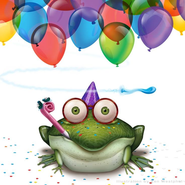 Лягушка поздравление открытка, красивые картинки для