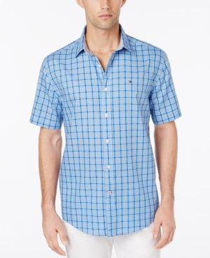 Tommy Hilfiger Men's Patrick Tattersall Shirt - Blue XS
