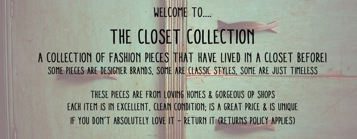 Love love love it Closet Collection - loved girls clothing