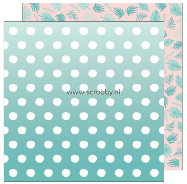 American Crafts Dear Lizzy Happy Place double sided cardstock Bermuda   €0.90