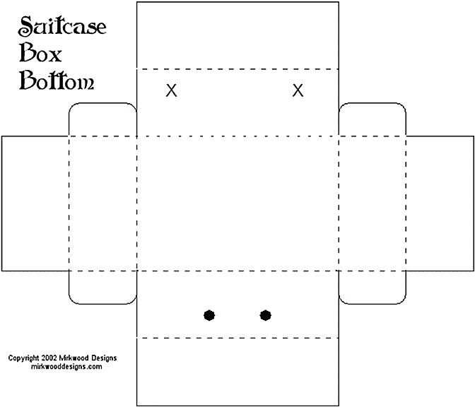 Kirstens Blogg My Suitcase Template Box Template Templates Templates Printable Free