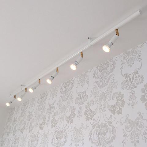 Bildresultat för kökslampa skena tak med spottar