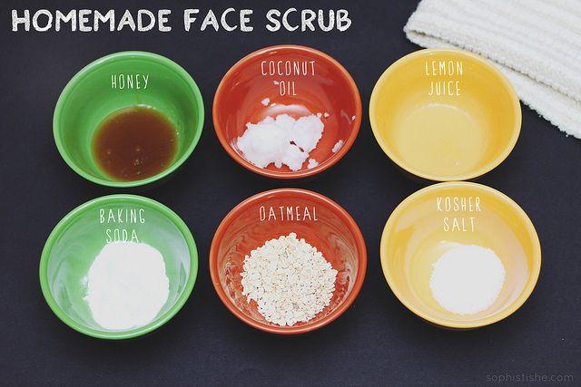 Homemade 6 Ingredient Face Scrub