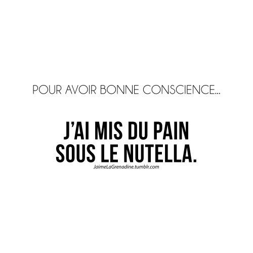 Pour avoir bonne conscience… J'ai mis du pain sous le Nutella - #JaimeLaGrenadine