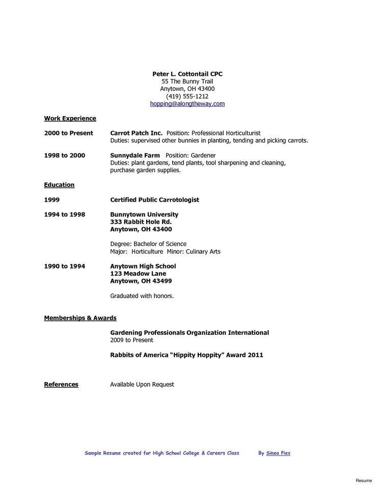 Resume format high school graduate format graduate