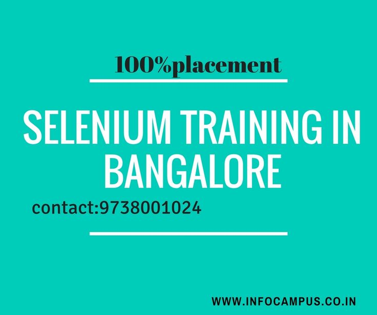 7 best best selenium training institute in bangalore images on ...