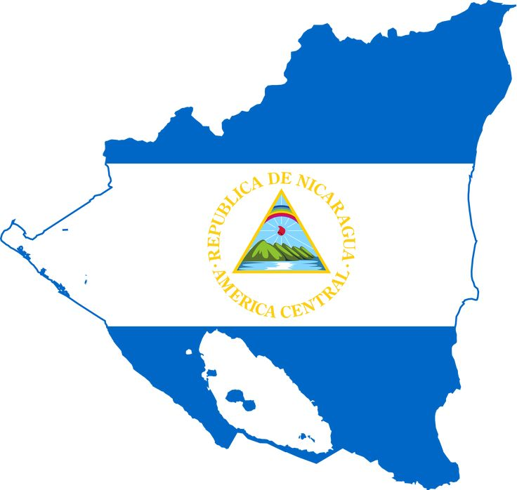 Nicaragua Flag | Flag Map of Nicaragua scallywag Flag SVG