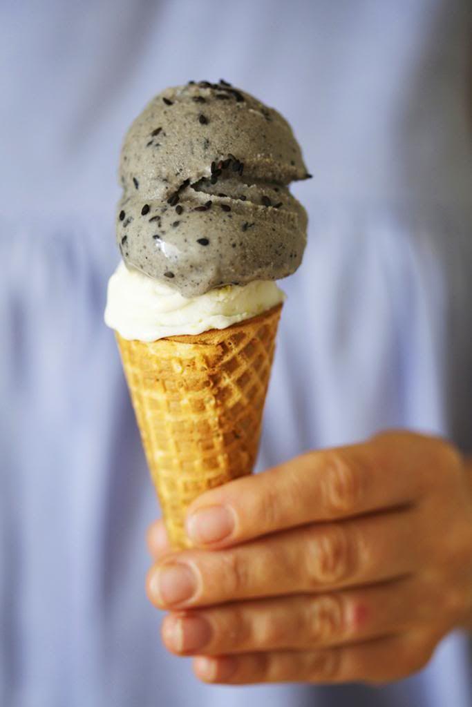 Black Sesame & Ginger Ice Cream by golubka: 2 favorites.  #Ice_Cream #BlacK_Sesame #Ginger
