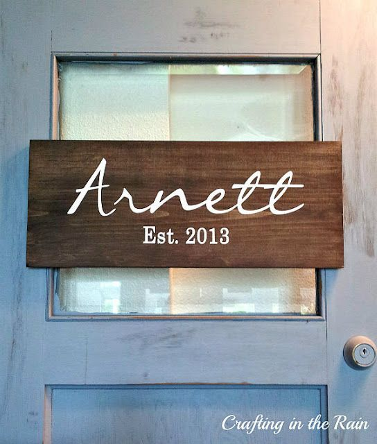 This sign displaying the couple's last name would be a fun way to greet their guests as they enter the wedding. Plus, the couple can take the sign home and hang it as decor in their house! wedding decor ideas.  wedding signs.  interior design decor.  last name decorations.  wedding gift ideas. vintage wedding.