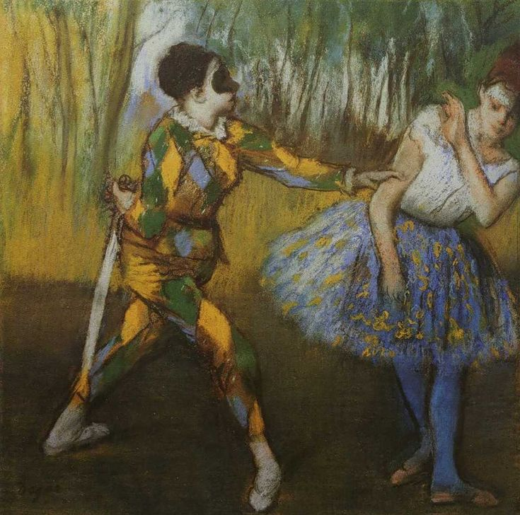 1886 - Edgar Degas - Harlequin and Columbine